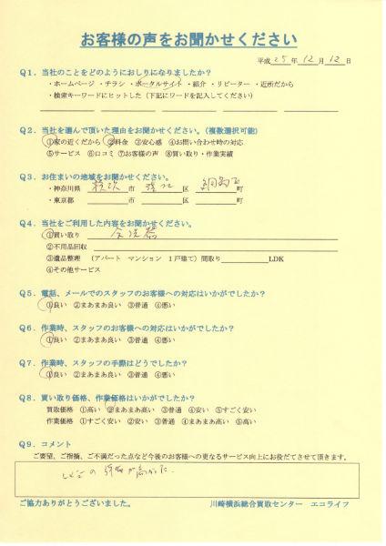 横浜市港北区綱島西のR様から東芝食器洗い乾燥機を買取しました!!25・12・12