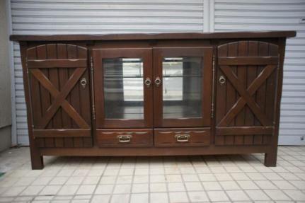カリモク 木製サイドボード アンティーク