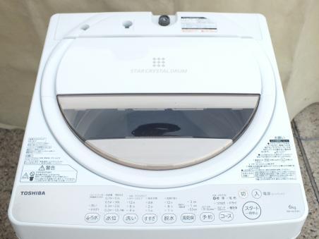 東芝 全自動洗濯機 6.0kg AW-6G3