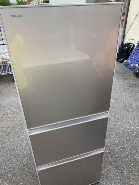 東芝 冷蔵庫 ガラスドア GR-K33SXV