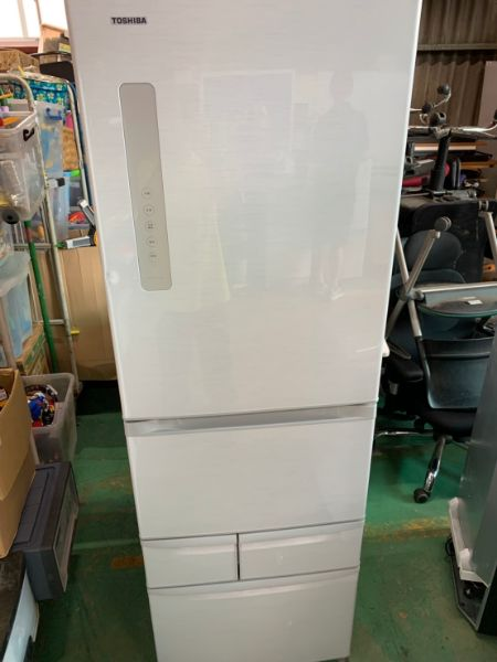 東芝 VEGETA 5ドア 冷凍冷蔵庫 自動製氷 426L GR-F43G