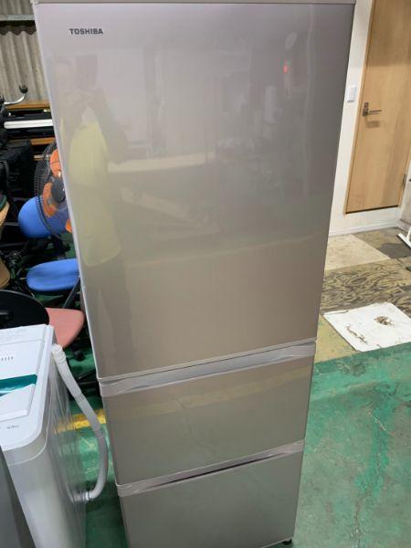 TOSHIBA 東芝 ノンフロン冷凍冷蔵庫 375L 3ドア GR-H38S