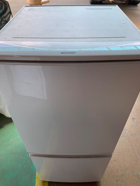 SHARP SJ-D14B-W 2ドア 冷蔵庫 137L