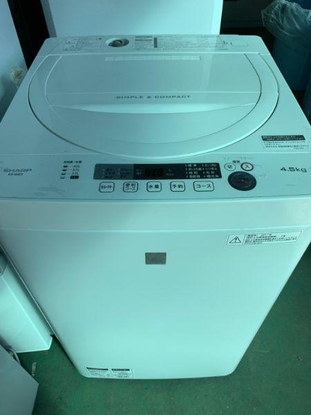 SHARP シャープ 全自動洗濯機 4.5kg ES-G4E5-KW