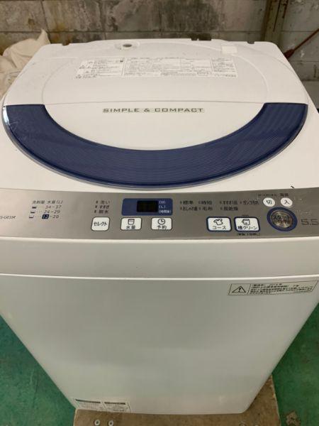 SHARP 全自動電気洗濯機 ES-GE55R-H