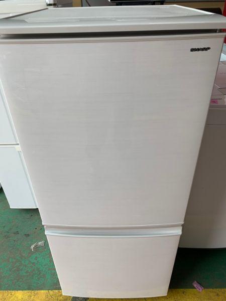 SHARP シャープ 137L 2ドア冷凍冷蔵庫 SJ-D14D-W