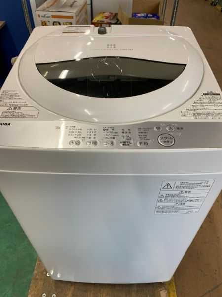 TOSHIBA 東芝 AW-5G6 全自動 洗濯機 5kg