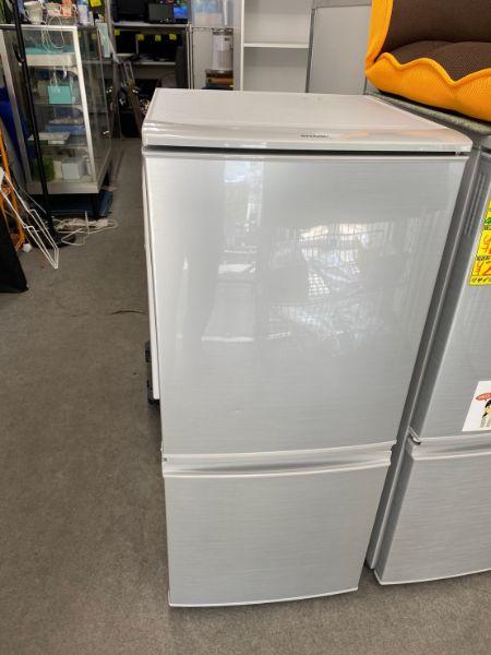 SHARP シャープ 137L 2ドア冷凍冷蔵庫 SJ-D14B-S