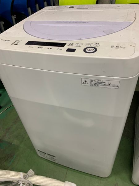シャープ 全自動洗濯機 5.5kg ES-GE5A-V