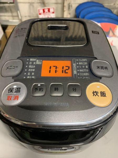 アイリスオーヤマ 炊飯器 IH式 3合 RC-IB30-B