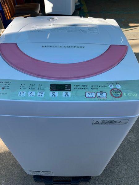 SHARP 全自動洗濯機 ES-GE60R-P 6.0kg