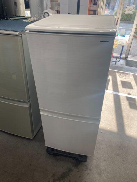 SHARP 137L 2ドア冷凍冷蔵庫 SJ-D14D-W