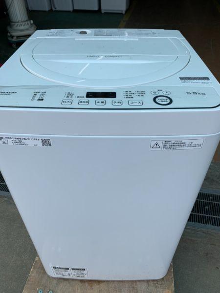 SHARP シャープ ES-GE5D 全自動 洗濯機 5.5kg