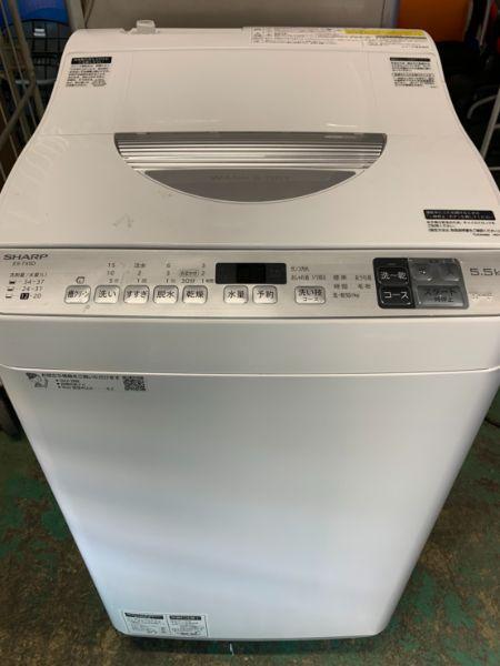 SHARP シャープ ES-TX5D-S 全自動 洗濯 乾燥機